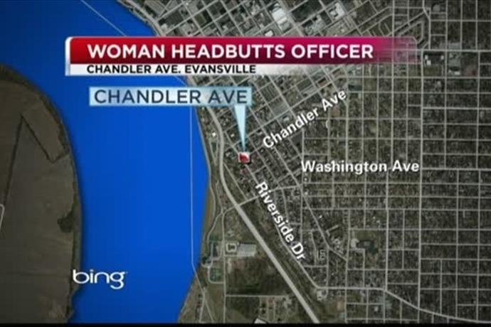 Woman Headbutts Officer_-1579480714994561061