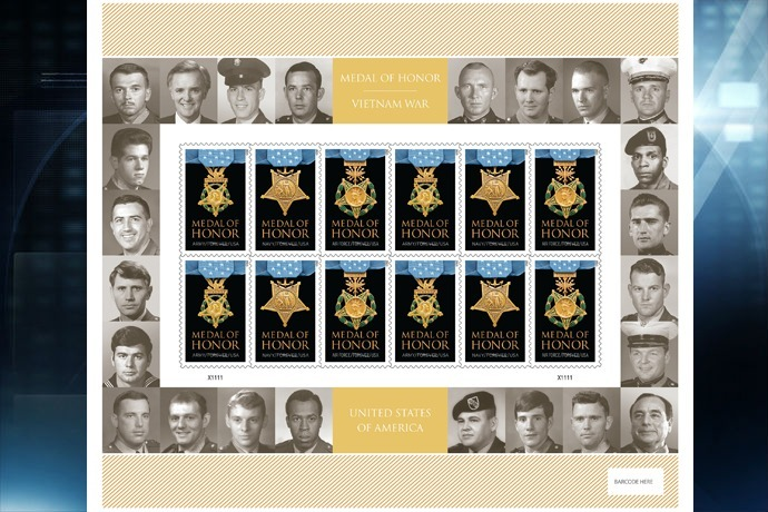 Limited Edition Medal of Honor_ Vietnam War Forever Stamps_5656037876602720083