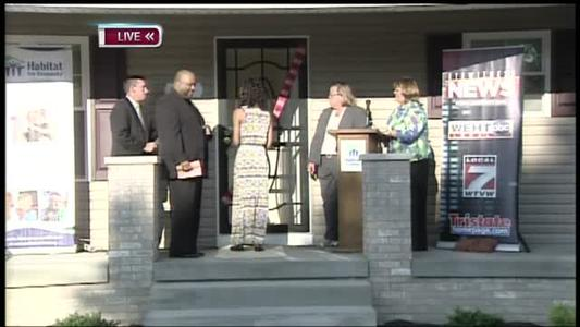 New Homeowner Celebrates Key Presentation and Ribbon Cutting_-525690679859983563
