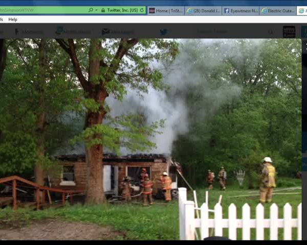 Fire Crews Work House Fire on Selzer Road