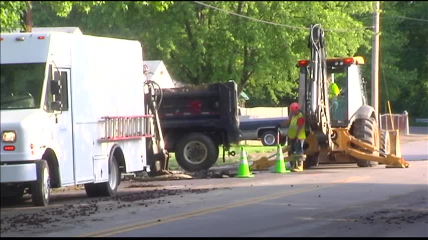 Evansville Crews Respond to Two Water Main Breaks_17070245-159532