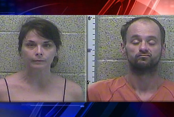 Ali Langley and Chad Rauch Arrest Mug Drug