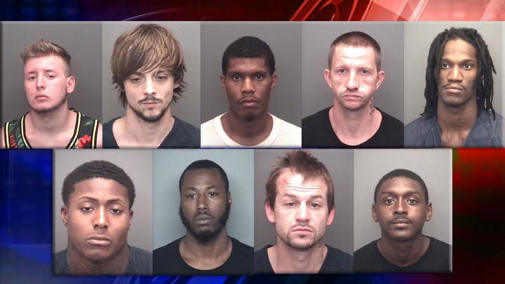 vanderburgh jail disturbance mugs nine inmates_1470075992709.jpg