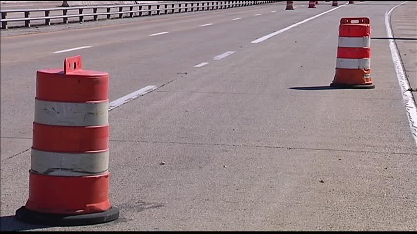 I-69 Orange Cones_73062414-159532