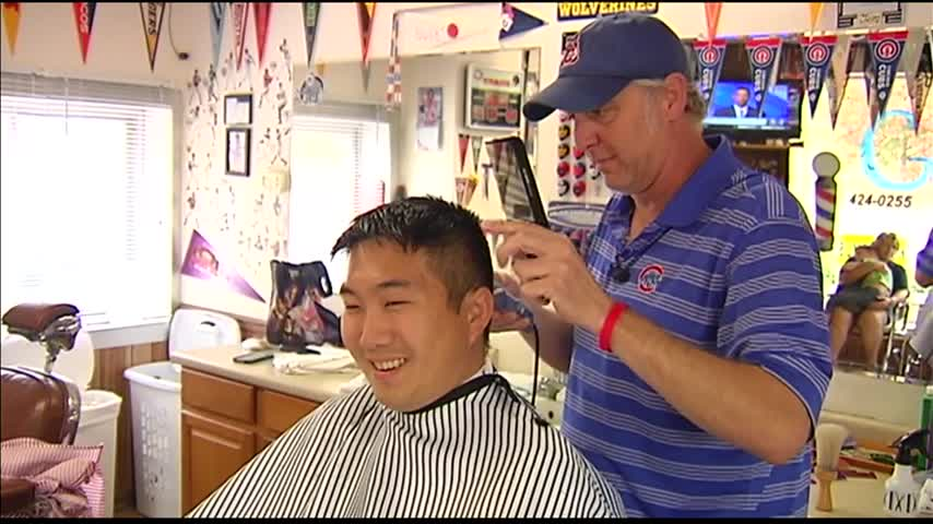 Cubs Fan - Barber Elated Over World Series Win_20543311-159532