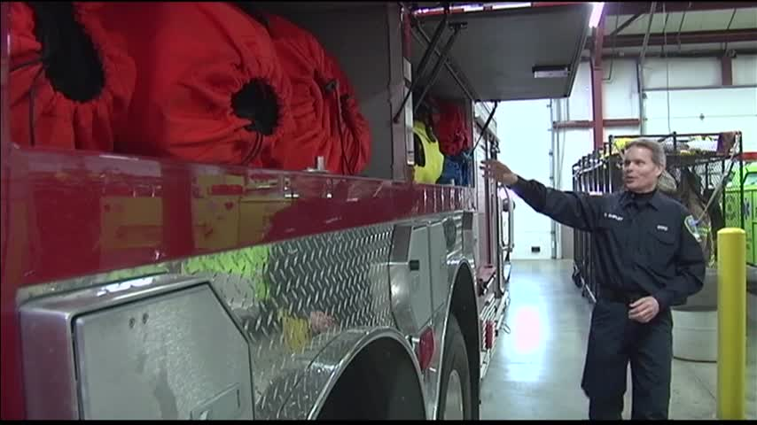 Firefighters Train for Ice Water Rescues