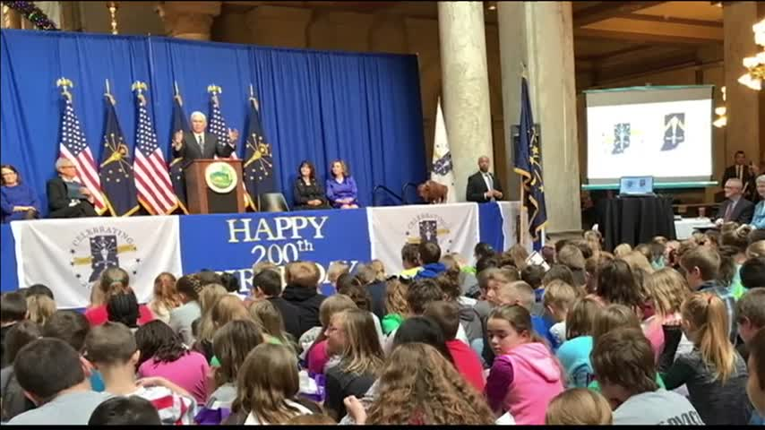 Hoosiers Preparing for Statehood Day_81913856