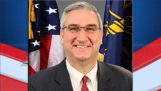 Gov. Holcomb campaigns in Evansville