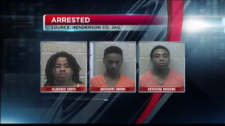 three suspects clarence smith keyontae mcguire joeviante simms mugs
