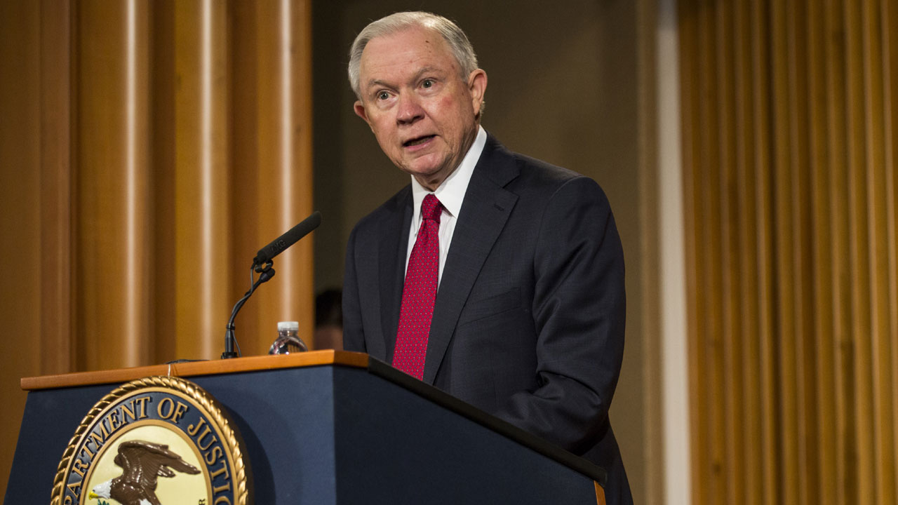 Attorney General Jeff Sessions at podium89579273-159532