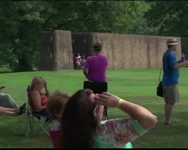 People Watch Eclipse at Angel Mounds_44430936