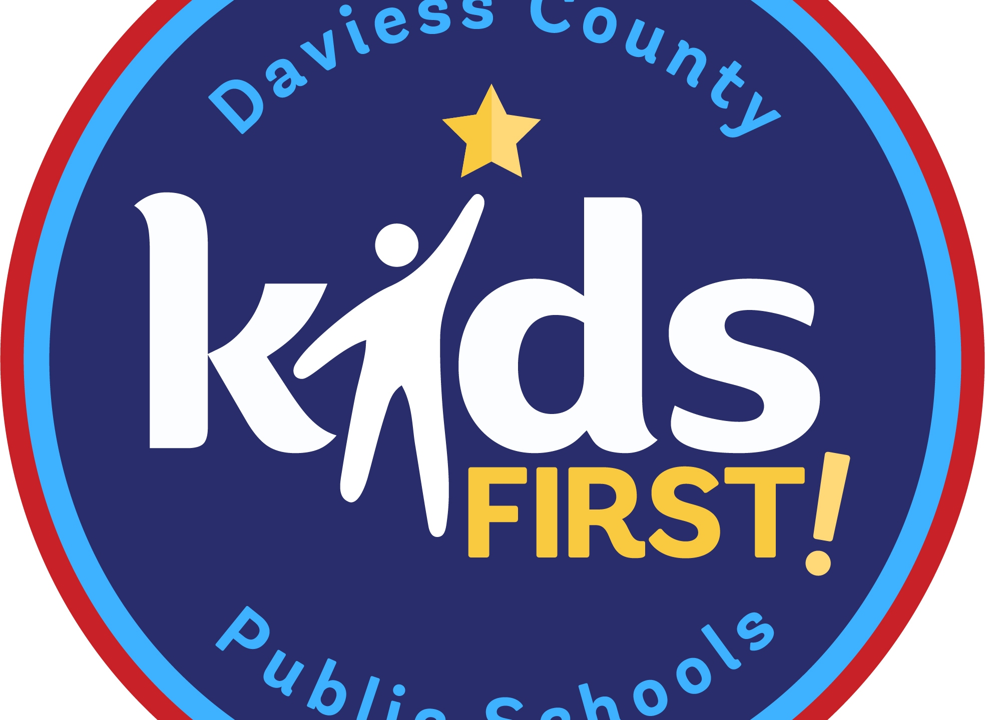 Daviess County Public Schools logo Kids First USE THIS LOGO DCPS
