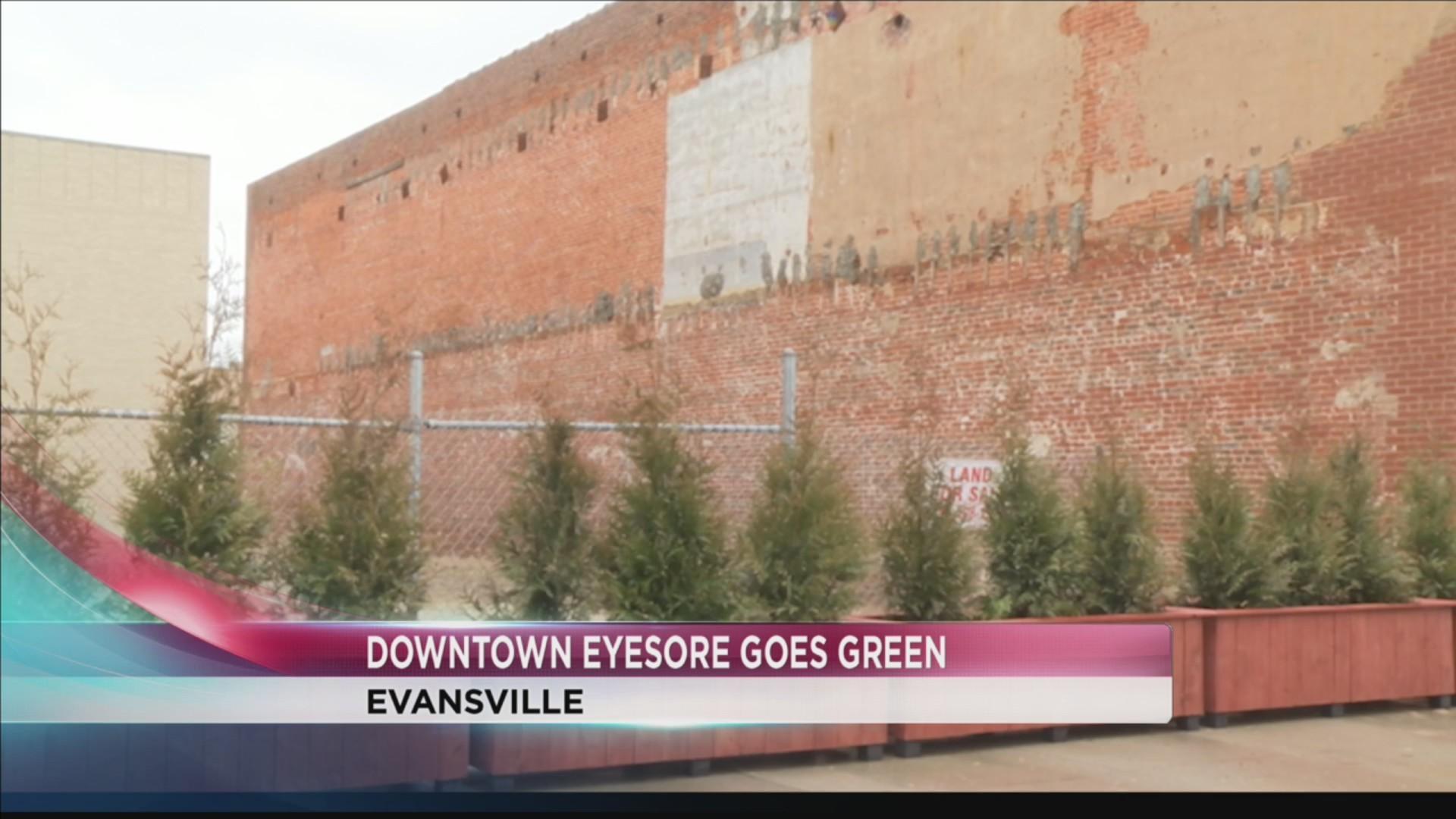 Downtown eyesore goes green