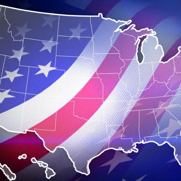 USA election generic map