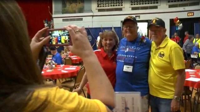 Honor Flight veterans enjoy pre-trip meet-and-greet