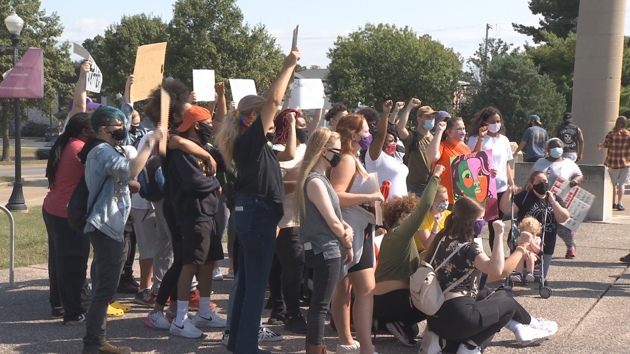 Black Lives Matter at Four Freedoms Monument
