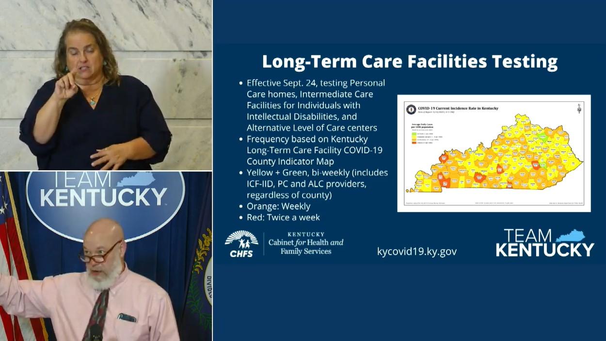 Kentucky's long term care facilities will have regular ...