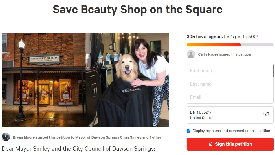 Save Beauty Shop on the Square Petition