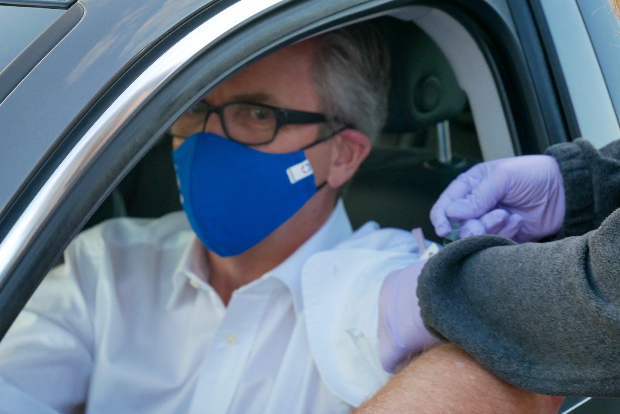 Mayor Lloyd Winnecke Flu Shot