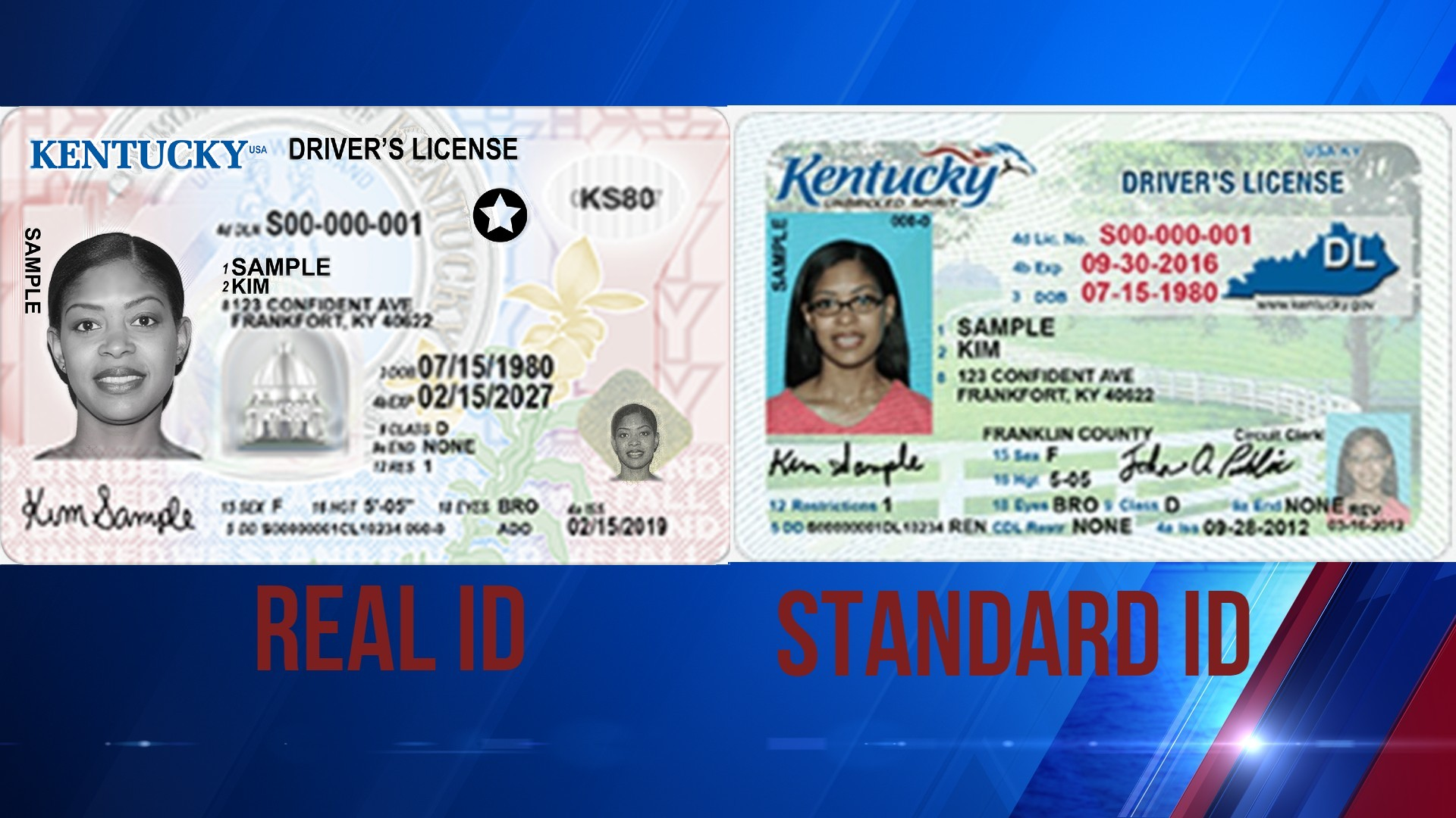 Difference between KY REAL ID and standard driver's license