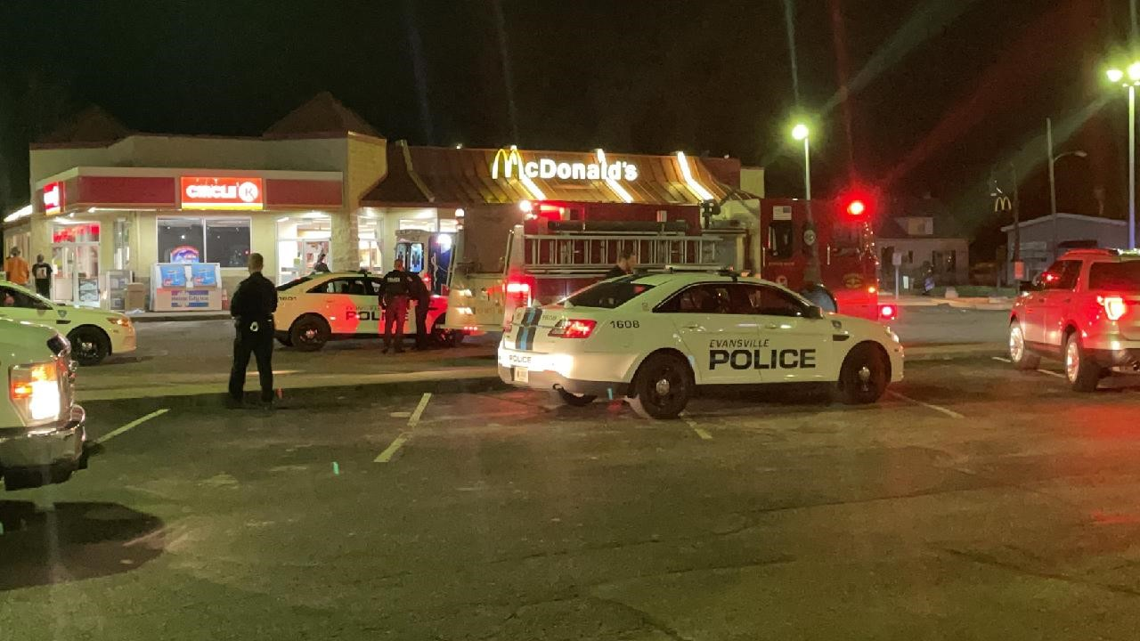 Shooting at McDonald's in Evansville