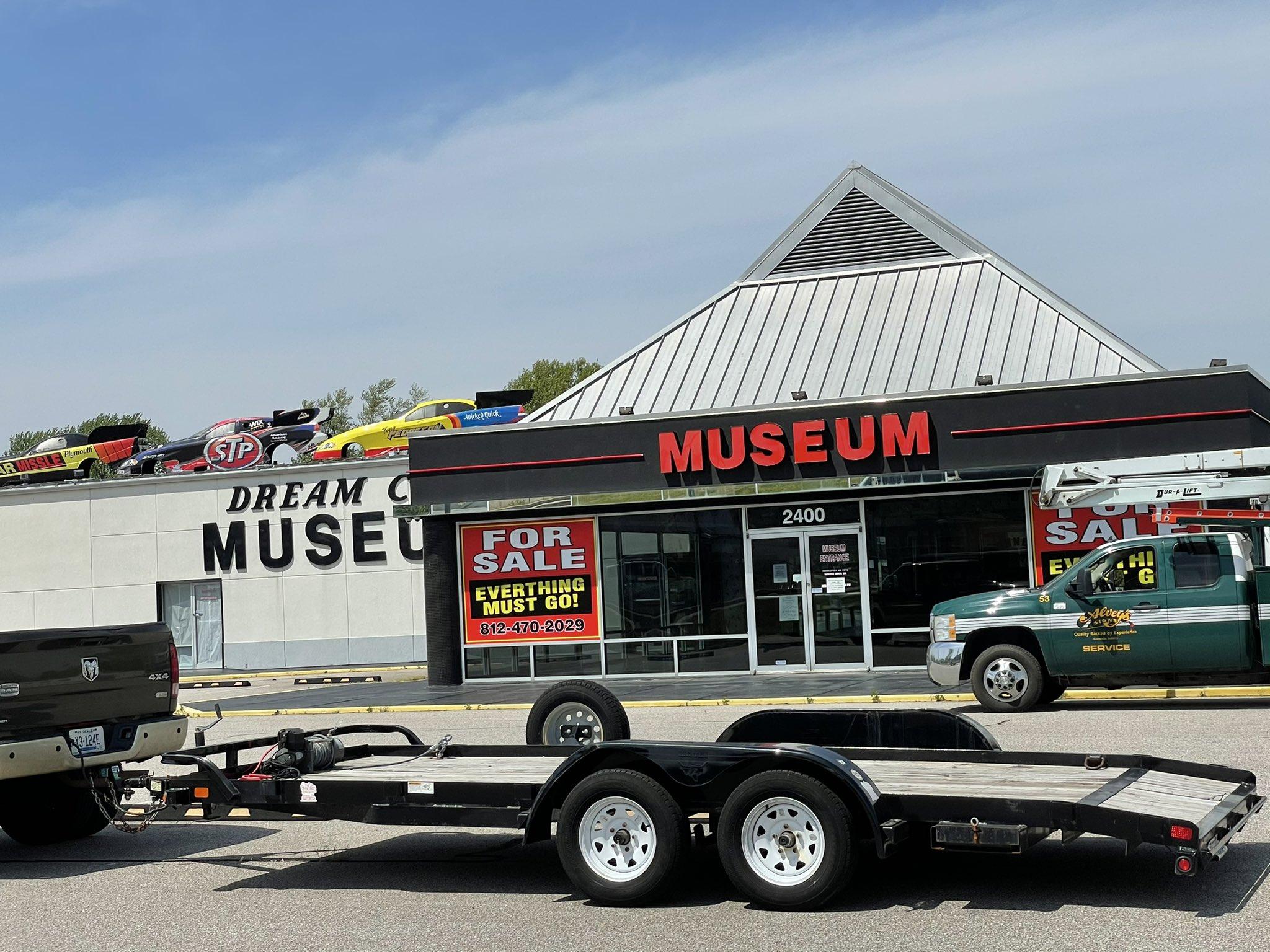 Dream Car Museum corvette comes down