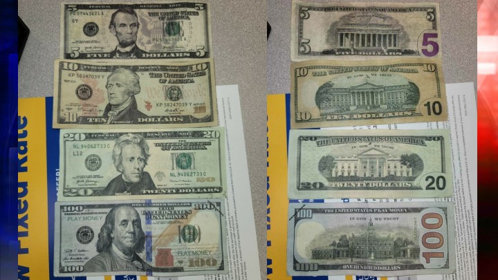 Counterfeit bills in Gibson County, IN