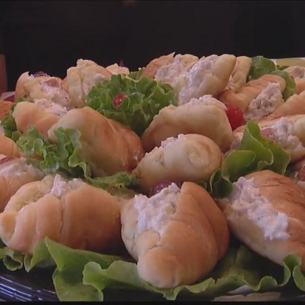 Croissant platter at Chicken Salad Chick