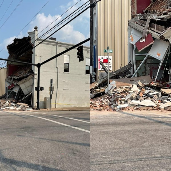 Morganfield building partial collapse